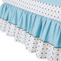 TL Care® Cotton Crib Skirt - Blue Dot