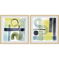 Marmont Hill 2-Piece Refractions V 36-Inch x 18-Inch Framed Wall Art Set