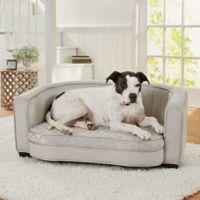 Enchanted Home Pet® Jules Large Pet Sofa in Silver