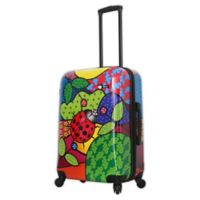 Mia Toro ITALY Allegra Pop Ladybug 24-Inch Hardside Spinner Checked Luggage