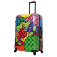 Mia Toro ITALY Allegra Pop Ladybug 28-Inch Hardside Spinner Checked Luggage