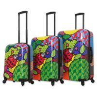 Mia Toro ITALY Allegra Pop Ladybug 3-Piece Hardside Spinner Luggage Set