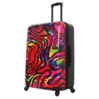Mia Toro ITALY Duaiv Zebra 28-Inch Hardside Spinner Checked Luggage