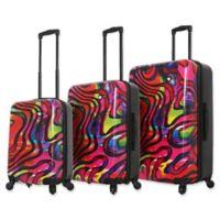 Mia Toro ITALY Duaiv Zebra 3-Piece Hardside Spinner Luggage Set