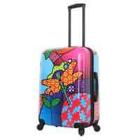 Mia Toro ITALY Allegra Pop Dragonfly 24-Inch Hardside Spinner Checked Luggage