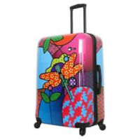 Mia Toro ITALY Allegra Pop Dragonfly 28-Inch Hardside Spinner Checked Luggage