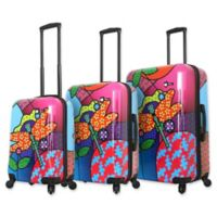 Mia Toro ITALY Allegra Pop Dragonfly 3-Piece Hardside Spinner Luggage Set