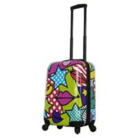 Mia Toro ITALY Stars and Kisses 20-Inch Hardside Spinner Carry On Luggage