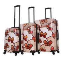 Mia Toro ITALY Ricci Butterflies 3-Piece Hardside Spinner Luggage Set