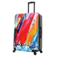 Mia Toro ITALY Duaiv Sails 28-Inch Hardside Spinner Checked Luggage