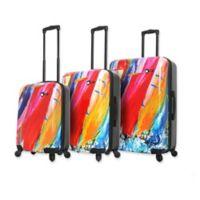 Mia Toro ITALY Duaiv Sails 3-Piece Hardside Spinner Luggage Set