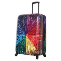 Mia Toro ITALY Color Wheel 28-Inch Hardside Spinner Checked Luggage