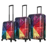 Mia Toro ITALY Color Wheel 3-Piece Hardside Spinner Luggage Set