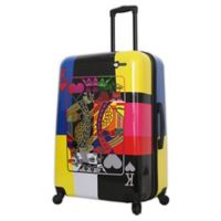 Mia Toro ITALY Art of Luck 28-Inch Hardside Spinner Checked Luggage