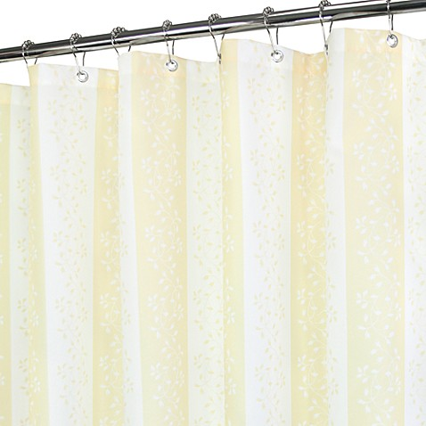 Florentine Stripe Yellow and White Shower Curtain