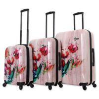 Mia Toro ITALY Paola 3-Piece Hardside Spinner Luggage Set