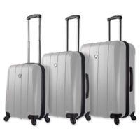 Mia Toro ITALY Tosetti 3-Piece Hardside Spinner Luggage Set in White
