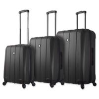 Mia Toro ITALY Tosetti 3-Piece Hardside Spinner Luggage Set in Black