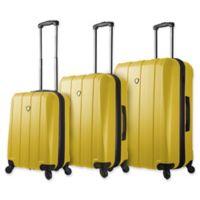 Mia Toro ITALY Tosetti 3-Piece Hardside Spinner Luggage Set in Gold