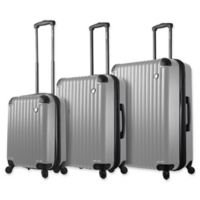 Mia Toro ITALY Rotolo 3-Piece Hardside Spinner Luggage Set in White