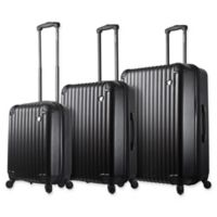 Mia Toro ITALY Rotolo 3-Piece Hardside Spinner Luggage Set in Black