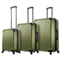 Mia Toro ITALY Rotolo 3-Piece Hardside Spinner Luggage Set in Gold