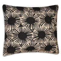 Elise And James Square Throw Pillow in Black