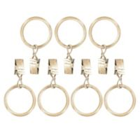 Farmhouse Oxford Clip Rings in Distressed Oak (Set of 7)