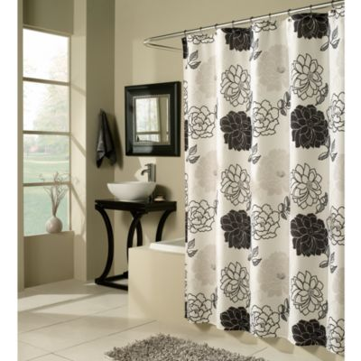 Buy Black White Floral Curtains from Bed Bath & Beyond