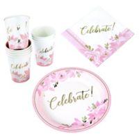 Lillian Rose™ 56-Piece Bridal Shower Celebration Set in Gold/Pink
