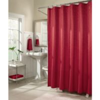 Mstyle Waves 72 Inch X Shower Curtain In Red