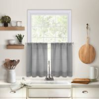 Maison 36-Inch Kitchen Window Curtain Tier Pair in Grey