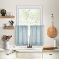 Maison 45-Inch Kitchen Window Curtain Tier Pair in Mineral