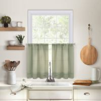 Maison 24-Inch Kitchen Window Curtain Tier Pair in Sage
