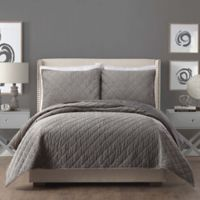 Ayesha Curry™ Cotton Velvet Full/Queen Quilt in Grey
