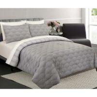 Ron Chereskin Fanfair Reversible Full/Queen Comforter Set in Grey