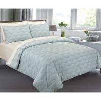 Ron Chereskin Fanfair Reversible Full/Queen Comforter Set in Turquoise