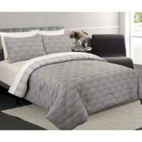 Ron Chereskin Fanfair Reversible King Comforter Set in Grey
