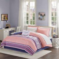 Intelligent Design Gemma 9-Piece Reversible Queen Comforter Set in Coral