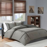 Intelligent Design Oxford 2-Piece Reversible Twin/Twin XL Comforter Set in Grey