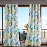 Madison Park Laguna 95-Inch 3M Scotchgard™ Grommet Top Outdoor Curtain Panel in Blue