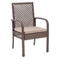 Crosley Tribeca Wicker Outdoor Chairs in Driftwood (Set of 4)