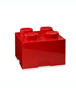 Caja de polipropileno LEGO® Brick 4 color rojo