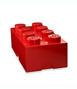 Caja de polipropileno LEGO® Brick 8 color rojo