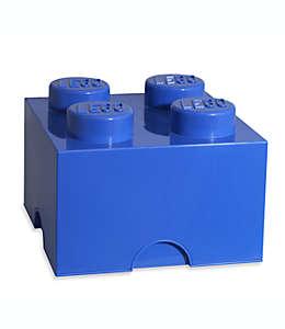 Caja de polipropileno LEGO® Brick 4 color azul