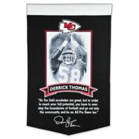 NFL Kansas City Chiefs Derrick Thomas Icon Collection Banner in Black