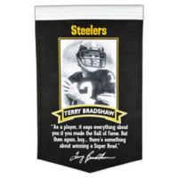 NFL Pittsburgh Steelers Terry Bradshaw Icon Collection Banner in Black