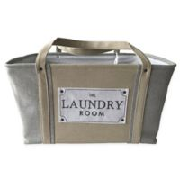 Baum-Essex The Laundry Room Basket in Grey/Tan