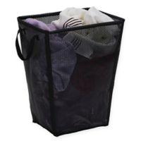 Household Essentials® Eva Tapered Mesh Laundry Hamper in Black