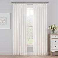 Marin 108-Inch Pinch Pleat Room Darkening Window Curtain Panel in Pearl